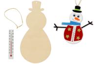 Bonhommes de neige thermomètre - Kit pour 12 créations - Kits d'activités Noël - 10doigts.fr