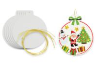 Boule de Noël en carton blanc - Boule de noël - 10doigts.fr