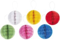 Boules de papier alvéolé - Ballons, guirlandes, serpentins - 10doigts.fr