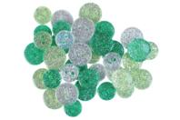 Boutons pailletés camaïeu vert - Set de 36 - Boutons - 10doigts.fr