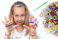 Bracelets élastiques LOOM - Kit de 12 bracelets - Kits bijoux - 10doigts.fr