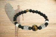 Kit bracelet Oeil de Tigre - Lithothérapie / Bracelets chakras - 10doigts.fr