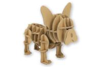 Bulldog en carton à assembler - Maquettes en carton - 10doigts.fr