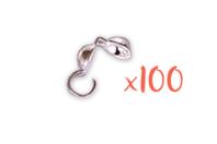 Cache-noeuds argentés - Lot de 100 - Cache-noeud - 10doigts.fr