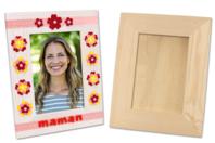 Cadre photo en bois vitré 23 x 18 cm - Cadres photos - 10doigts.fr