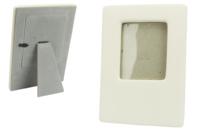 Cadres en céramique blanche - Lot de 6 - Cadres photos - 10doigts.fr
