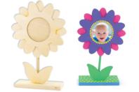 Cadre fleur en bois - Cadres photos - 10doigts.fr