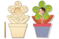 Cadre photo pot de fleur à colorier - Cadres photos - 10doigts.fr