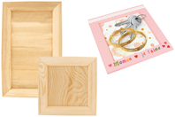 Cadre photo ou vide-poche en bois - Carré ou rectangle - Cadres photos - 10doigts.fr
