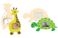 Cadres girafe et tortue - Set de 2 - Cadres photos - 10doigts.fr