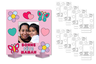 """Cadres photo à colorier """"Bonne fête Maman"""" - Lot de 8 - Supports de Coloriages - 10doigts.fr"""