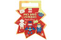 Cahier de coloriage Super héros - Support pré-dessiné - 10doigts.fr