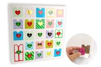 Calendrier de l'avent en carte forte blanche à décorer et à remplir - Calendrier de l'avent - 10doigts.fr