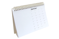 Calendrier perpétuel à spirale à décorer - Bullet Journal, Planner - 10doigts.fr