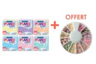 FIMO : Kit de 6 couleurs pastel + CADEAU - Les kits Fimo - 10doigts.fr