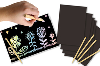Cartes à gratter holographiques - 5 cartes - Cartes à gratter - 10doigts.fr