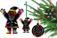 Cartes à gratter thème Noël + accessoires - 8 formes - Carte à gratter - 10doigts.fr