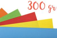 Papiers épais teintés (300 gr) 50 x 70 cm - Couleurs au choix - Papiers Unis - 10doigts.fr