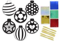 Cartes à métalliser Boules de Noël - 6 cartes assorties - Suspensions et boules de Noël - 10doigts.fr