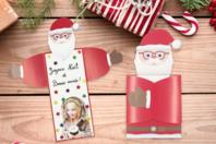 """Cartes de vœux Père-Noël """"câlin"""" - Lot de 6 - Carterie - 10doigts.fr"""