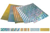 Papier épais or et argent holographiques - 5 feuilles - Papiers motifs fêtes - 10doigts.fr
