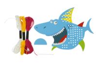 Carte Requin à tisser - Kits Mercerie - 10doigts.fr