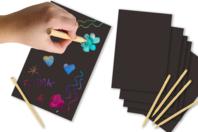 Cartes à gratter Multicolores - 5 cartes - Cartes à gratter - 10doigts.fr