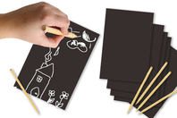 Cartes à gratter Noir & blanc - 5 cartes - Carte à gratter - 10doigts.fr