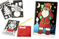 Cartes de Noël à métalliser - Set de 3 - Cartes de vœux - 10doigts.fr