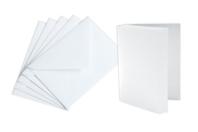 Cartes et enveloppes blanches - Lot de 10 - Carterie - 10doigts.fr