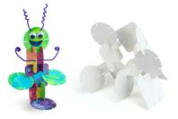 Cartes de construction en carton - Set de 100 - Maquettes en carton - 10doigts.fr
