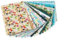 Papiers motifs enfantins 24 x 34 cm - 20 feuilles - Papiers couleurs - 10doigts.fr