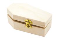 Boîte cercueil en bois - Halloween - 10doigts.fr