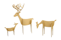 Cerfs à monter en carton - 3 tailles assorties - Animaux en papier mâché - 10doigts.fr