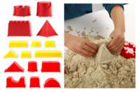 Moules châteaux de sable - Sable à modeler - 10doigts.fr