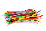 Méga mix chenilles couleurs assortis - 400 pièces - Chenilles, cure-pipe - 10doigts.fr