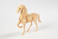 Cheval ou licorne 3D en bois naturel à monter - Maquettes en bois - 10doigts.fr