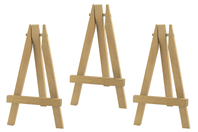 Mini-chevalets en bois 12,5 cm - Lot de 3 - Chevalets et accessoires - 10doigts.fr