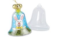 Cloche en plastique à suspendre - Formes à garnir - 10doigts.fr