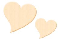 Coeur fantaisie en bois naturel - Taille au choix - Motifs bruts - 10doigts.fr