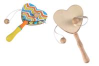 Coeur tam-tam - Ballons, guirlandes, serpentins - 10doigts.fr