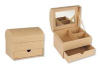Coffre à bijoux en carton - Supports Bureau en carton - 10doigts.fr