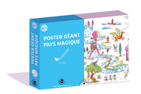 Coffret Poster géant - Activité Coloriage - Support pré-dessiné - 10doigts.fr