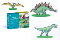 Coffret Dinosaures - Construction et Plastique magique - Coffret de Construction en 3D - 10doigts.fr