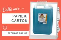 Colle Bleue pour papier - Sans solvants - Colles scolaires - 10doigts.fr