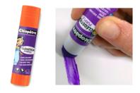 Bâtons de colle violette Cléopâtre - Boîte de 12 - Colles scolaires - 10doigts.fr