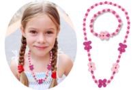 """Parure bijoux  bracelet et collier """"Fleurs"""" - Kit pour 1 parure - Kits bijoux - 10doigts.fr"""