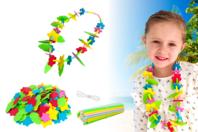 """Kit Colliers fleurs Hawaï  """"Aloha"""" - Kits activités Carnaval - 10doigts.fr"""