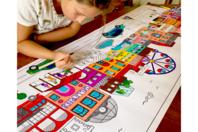 Fresque géante à colorier - Thèmes au choix - Supports pré-dessinés - 10doigts.fr