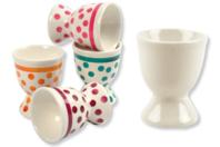 Coquetiers en porcelaine blanche - Déco de la maison - 10doigts.fr
